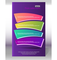 flyer vertical layout page purple background vector image vector image
