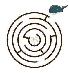 Game labyrinth find a way whale vector