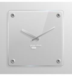 Glass wall clock vector image vector image