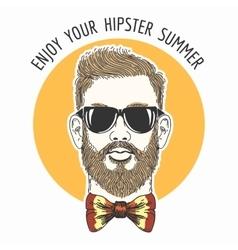 Hipster Summer Emblem vector image