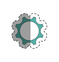 industry wheel cog icon vector image vector image
