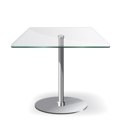 Modern glass table vector image
