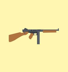 ordnance carbine usa america submachine gun ww2 vector image vector image