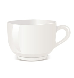 Realistic cup over white backgro vector image vector image
