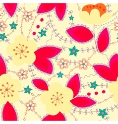 Retro pattern with apple bright vector image vector image