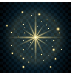 Shine star glitter sparkle icon vector