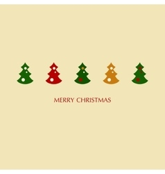 Stock of christmas trees vector