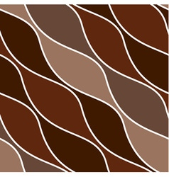 Wavy brown seamless pattern vector image vector image