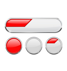 white and red buttons vector image