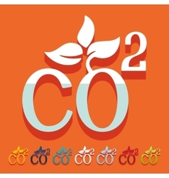 Flat design co2 sign dioxide vector