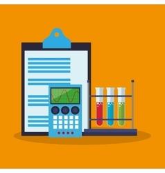Colorful checklist calculator and laboratory vector