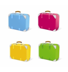 icon set travel suitcase vector image