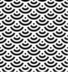 black fish scale background of concentric circles vector image