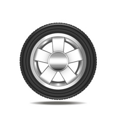 realistic detailed auto car wheel vector image