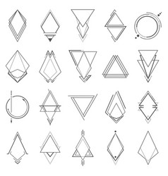 Set of minimalistic geometric elements vector