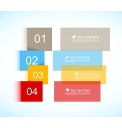 Colorful brochure vector image