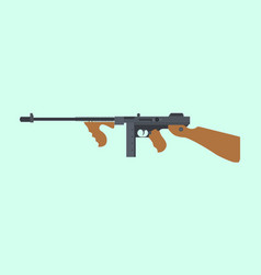 ordnance carbine usa america submachine gun ww2 vector image