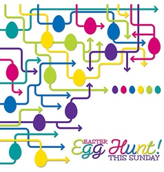 Easter egg hunt poster in format vector