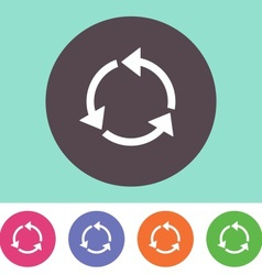Recycle symbol icon vector