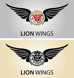 Lion wings logo vector