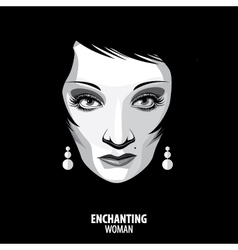 Enchanting woman vector