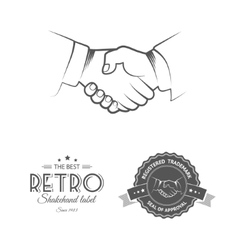 Business deal shakehand vector
