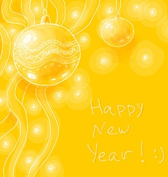 Bright yellow new year background vector