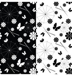 Seamless jaran parasol pattern vector