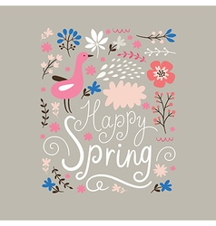 Happy spring vector