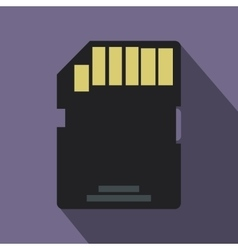 Sd memory card icon flat style vector