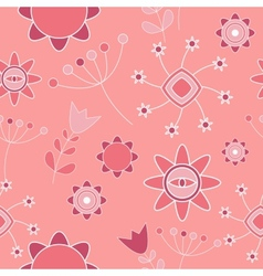 Abstract Cute Background Flower Seamless Pattern vector image vector image