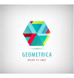 abstract geometric modern logo company vector image vector image