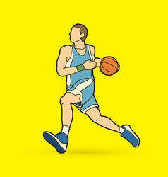 basketball player running vector image vector image