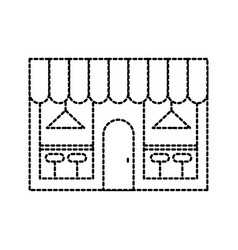 cafe shop exterior street restraunt building with vector image