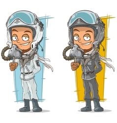 Cartoon set of pilots with cool helmets vector image