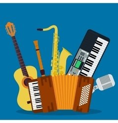 Concept of concert musical instruments vector