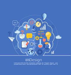 Creative left and right brain idea infographic vector