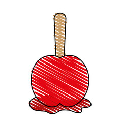 Delicious candy apple icon imag vector