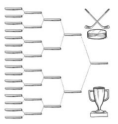 Doodle sports bracket nhl vector