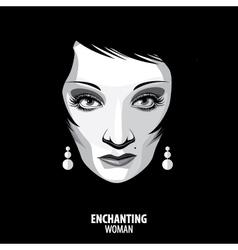 Enchanting woman vector
