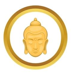 Head of buddha icon vector