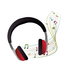 Headphone device isolated icon vector
