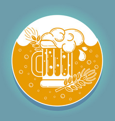 Icon glass of beer vector