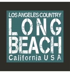 Long Beach California vector image