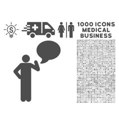 Man Idea Balloon Icon with 1000 Medical Business vector image vector image
