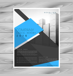 modern business brochure design template in blue vector image