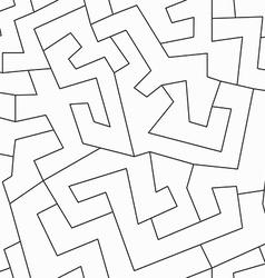 monochrome ethnic seamless pattern vector image vector image