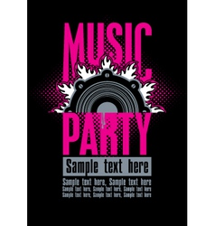 musical party vector image