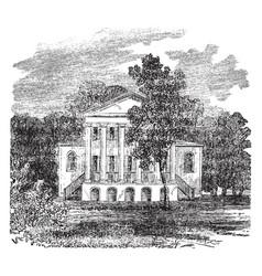 Oak hill plantation monroes estate vintage vector