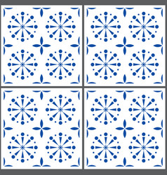 Portuguese tile pattern lisbon seamless in vector